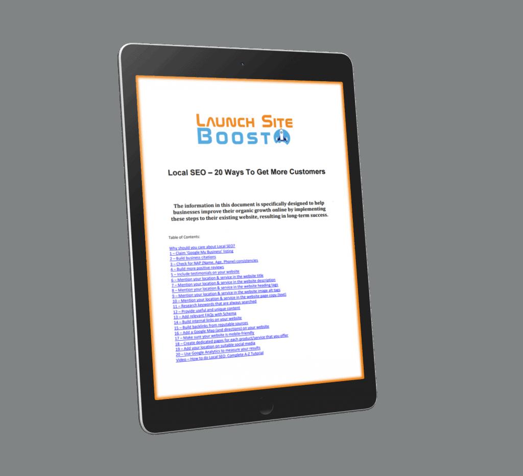 Local SEO Tips - PDF Download
